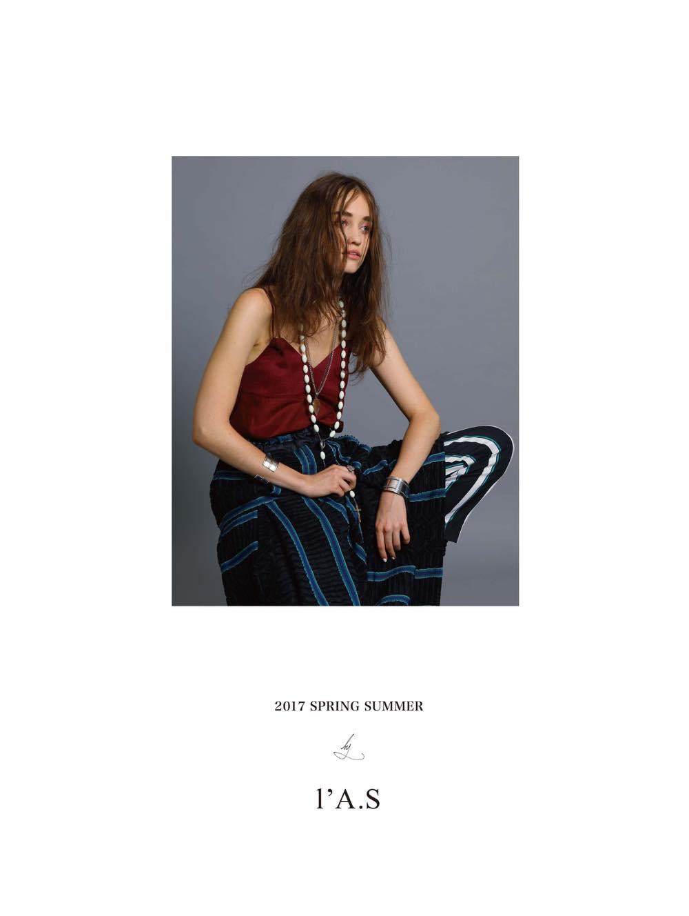 l'A.S(ラス)2017年春夏 コレクション。デザイナーは猿橋 歩美(Ayumi Saruhashi)。