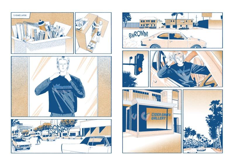 dilemma(ダイレマ)2020-21年秋冬コレクション。テーマは「MR.MOTEL」。 イラストレーター BERLIACとのオリジナルのコミックを作成。